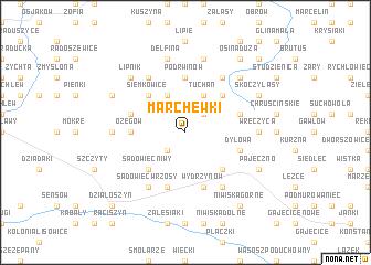 map of Marchewki