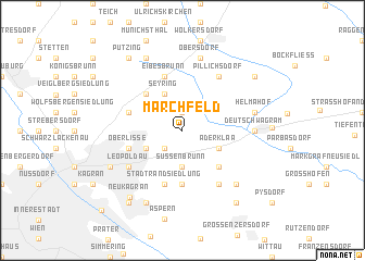 map of Marchfeld
