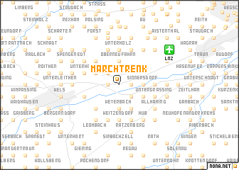 map of Marchtrenk