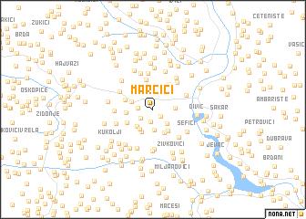 map of Marčići