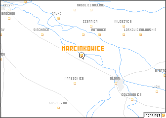 map of Marcinkowice