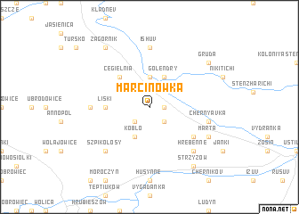 map of Marcinówka