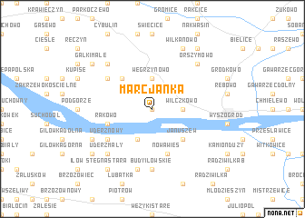 map of Marcjanka