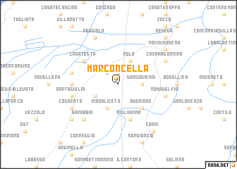 map of Marconcella