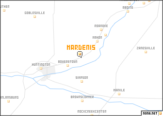 map of Mardenis