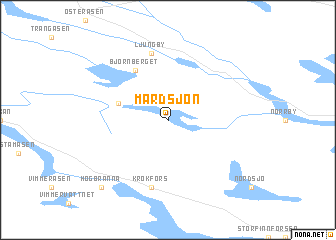 Mårdsjön Sweden Map Nonanet - Jamtland sweden map