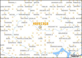 map of Marécage