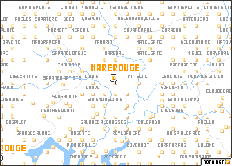 map of Mare Rouge