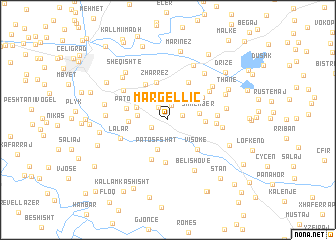 map of Margëlliç