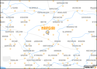 map of Margiai