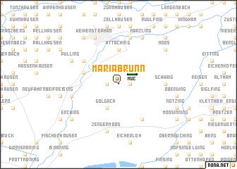 map of Mariabrunn