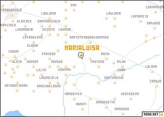 map of María Luisa