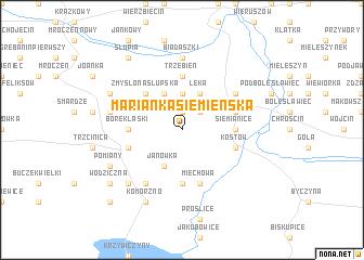 map of Marianka Siemieńska