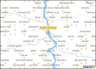 map of Marianów