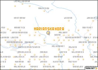 map of Mariánská Hora