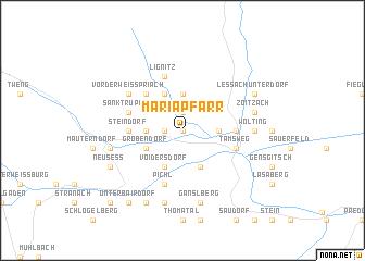 map of Mariapfarr