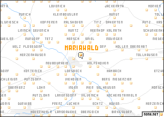 map of Mariawald