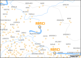 map of Marići