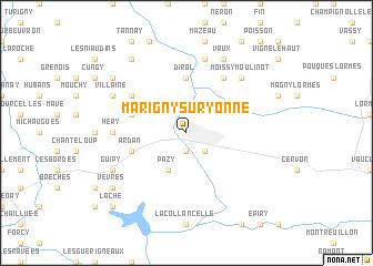 Map Of Yonne France.Marigny Sur Yonne France Map Nona Net