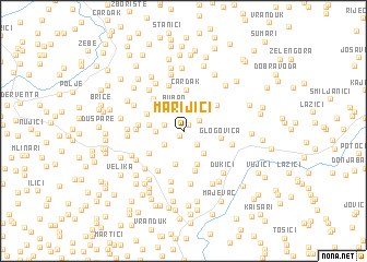 map of Marijići