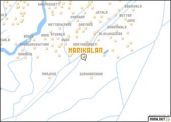 map of Māri Kalān