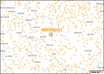 map of Marinovići