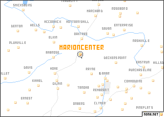 map of Marion Center