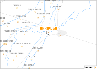 map of Mariposa