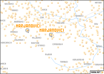 map of Marjanovići