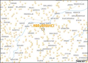 map of Marjanovići