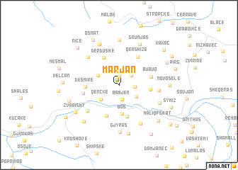 map of Marjan