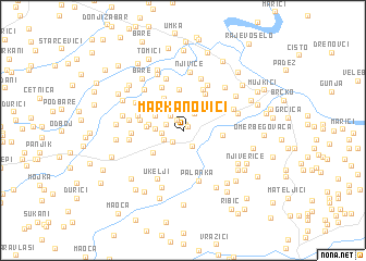 map of Markanovići