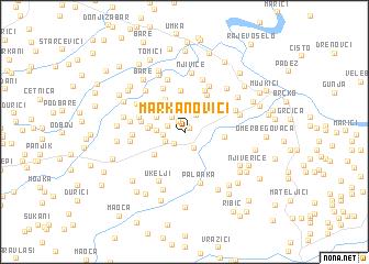 map of Markanovići