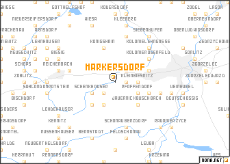 map of Markersdorf