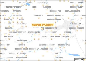 map of Markersdorf