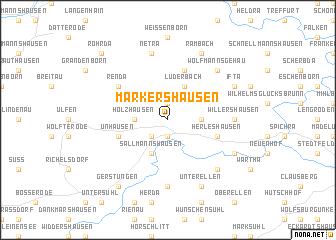 map of Markershausen