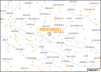 map of Markišavci