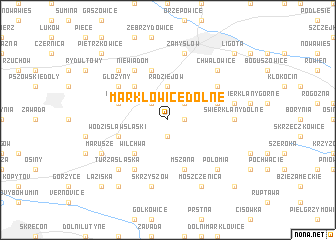 map of Markłowice Dolne