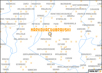 map of Markovac Dubravski