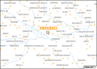 map of Markovci