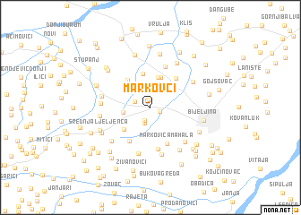 map of Markovci