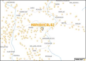 map of Markovica Laz