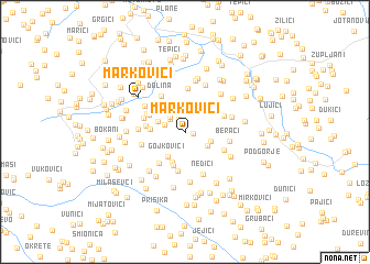 map of Markovići