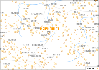 map of Markovići