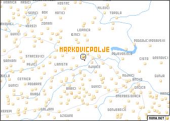 map of MarkovićPolje