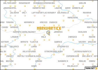 map of Markvartice