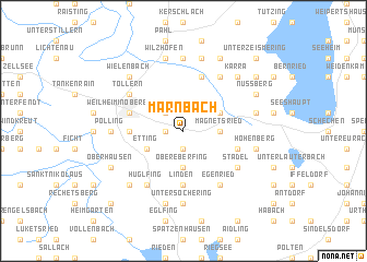 map of Marnbach