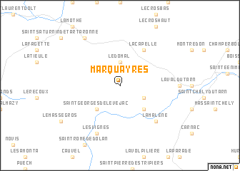 map of Marquayres