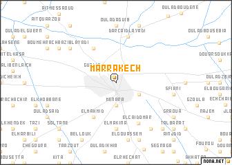 map of Marrakech