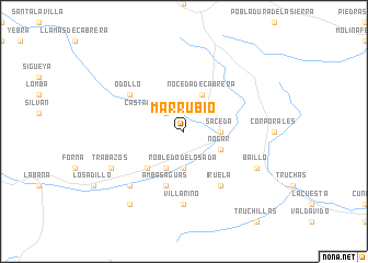 map of Marrubio